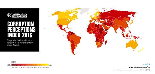 corruption ranking index 2016