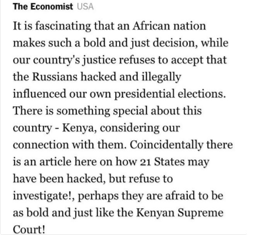 Supreme Court of Kenya made a Bold and Just decision - The Economist USA.
