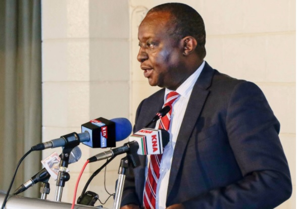 CS Treasury Henry Rotich Addressing Journalists on 9th Nov 17.