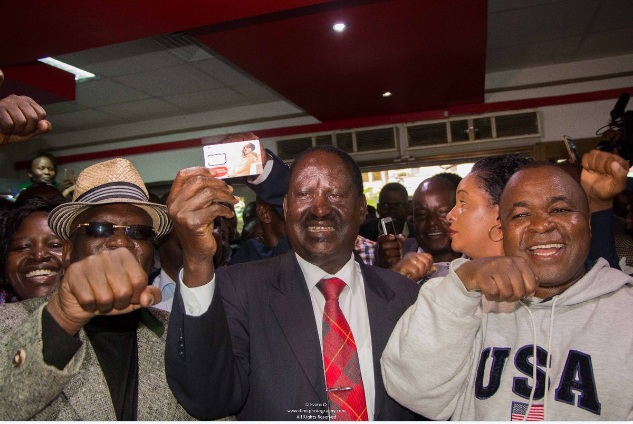 Raila Odinga at the Airtel Shop Leading the Economic Boycott against Safaricom