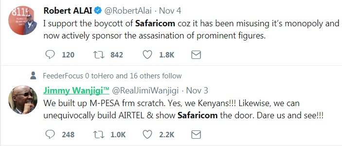 KOT commenting on the troubled Safaricom