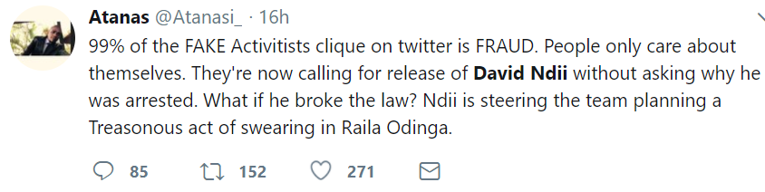 Atanas on David Ndii