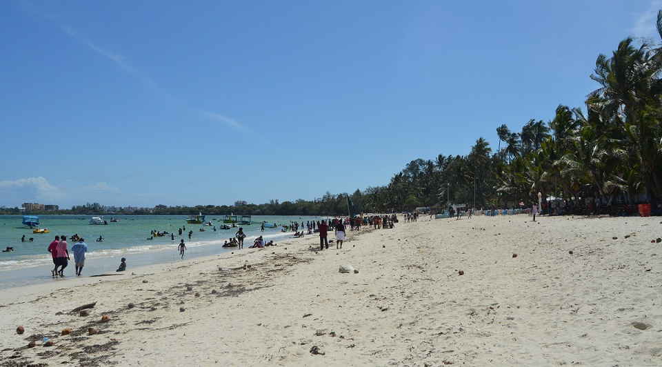 Ukunda Beach in Kwale County