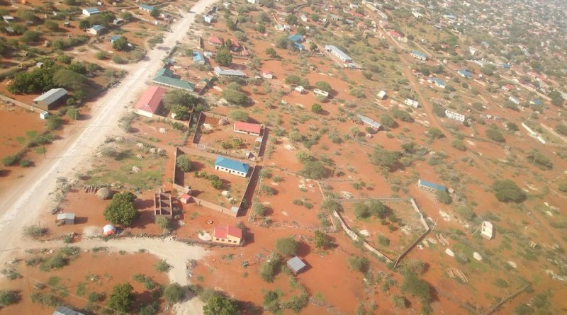 An aerial view of Wajir County