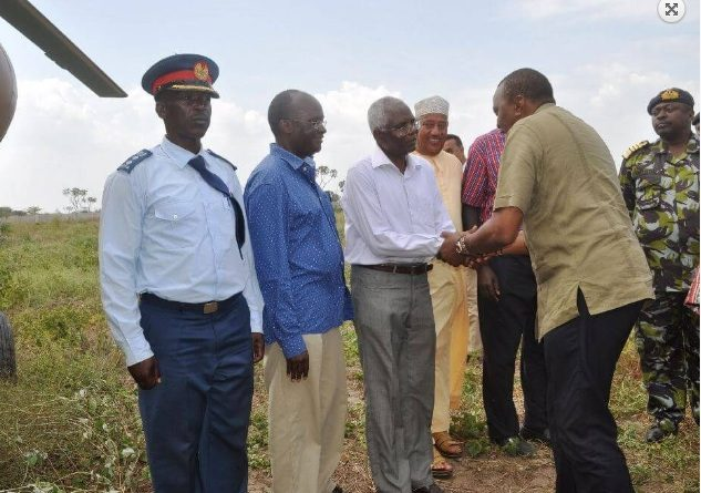 FILE PHOTO: President Uhuru Kenyatta's visit to Lamu Port, one of the LAPSSET Corridor Projects.