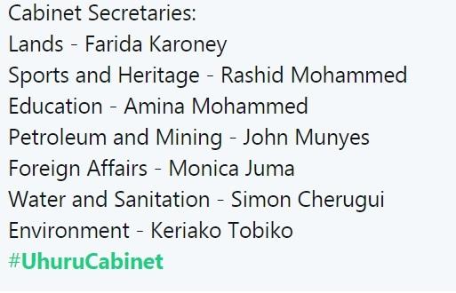 #UhuruCabinet