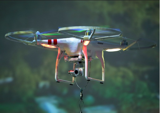 Photo: A drone under operation for photography