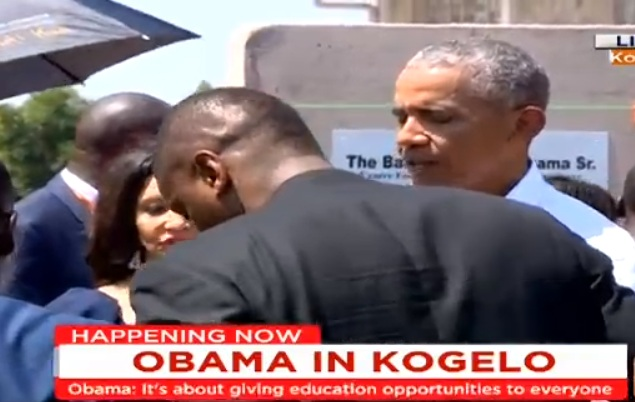 Obama just launched the Sauti Kuu Foundation in Kogelo village, Siaya County.