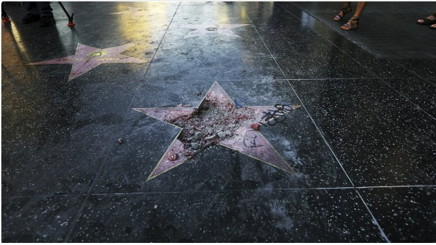 Trump's Star on the walk of Fame