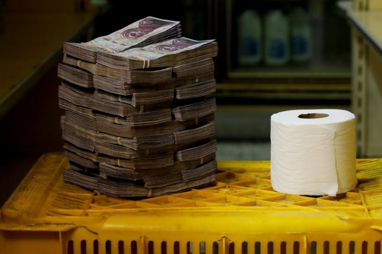 You need a whooping 2.6 million bolivars to purchase a single roll of tissue paper.