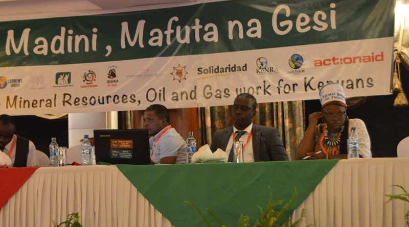 Members of Kenyan Civil Society discussing mining, oil and gas business in Kenya.
