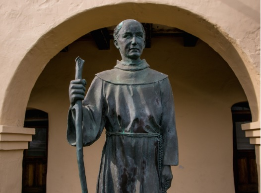 Junipero Serra, the Controversial Spanish priest who established 9 out of 21 missions in California.