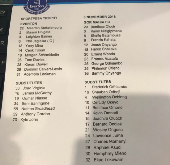 Everton vs Gor Mahia