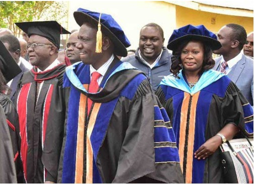 Deputy President William Ruto to graduate tomorrow with a doctorate degree in Plant Ecology from University of Nairobi.