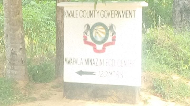 Beautiful signpost seen in Kwale County