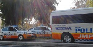 Johannesburg Metropolitan Police convoy