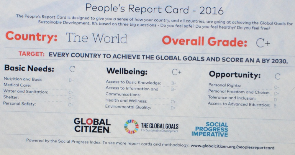 Citizen Report Card, SDGs