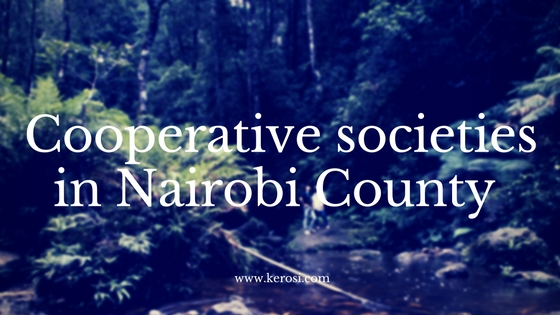 cooperative societies in Nairobi County