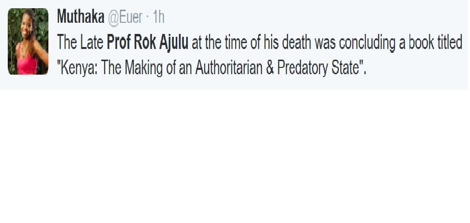prof. Rok Ajulu