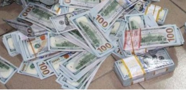 stash of cash in Lagos