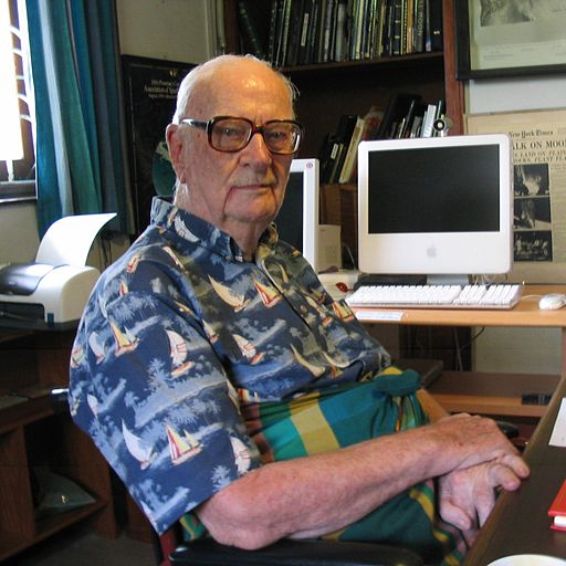 Sir Arthur Clarke is a great inventor, explorer and fiction writer who popularized science. credit: wikimedia commons