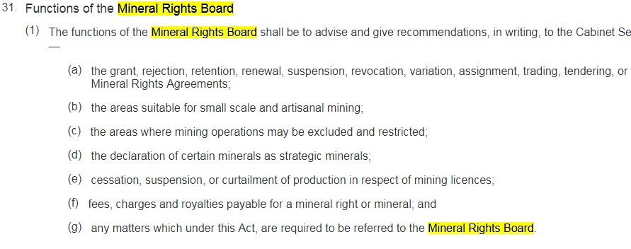 mineral rights board