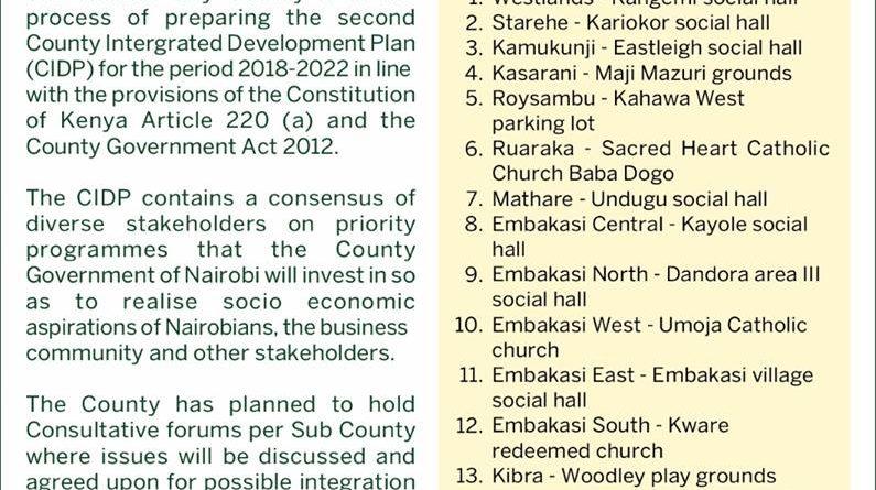 Nairobi CIDP discussions have began.