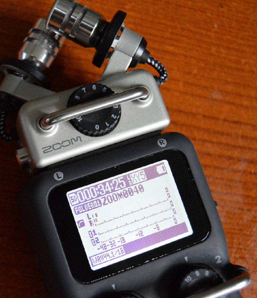 H5 Zoom Handy recorder LCD Screen.