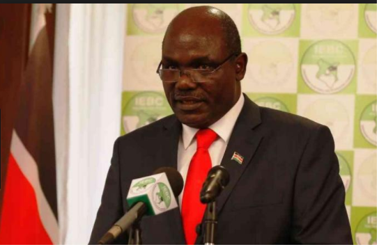 IEBC chair Chebukati announcing fresh presidential election results.