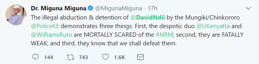 mIGUNA MIGUNA ON NDII