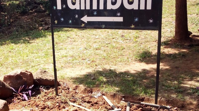 Photo: Signpost on Paintball sports.