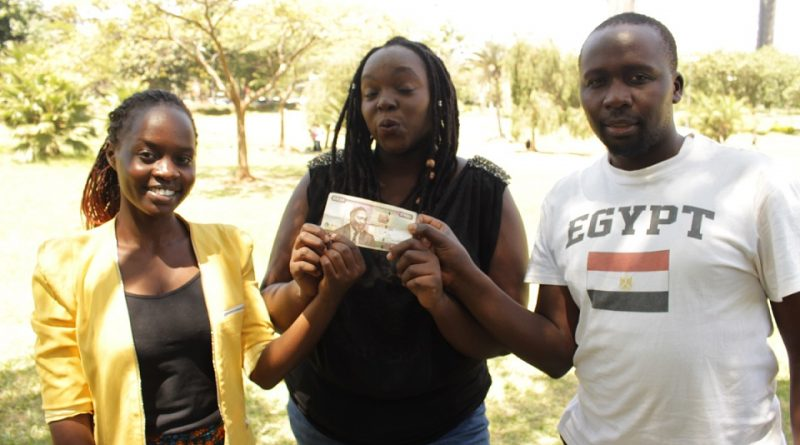 Photo: Risper, Kemunto and Geoffrey during the video shooting