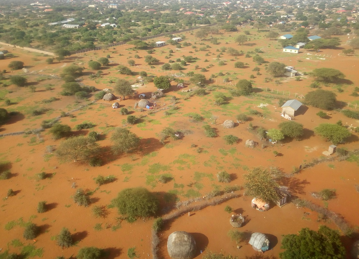 Aerial view of Wajir County