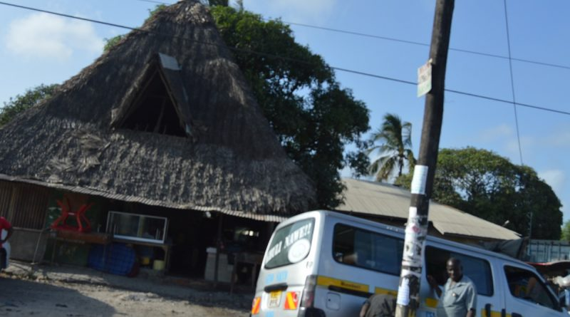 Photo: Swahili housing whose main feature is a roof thatched with Makuti.