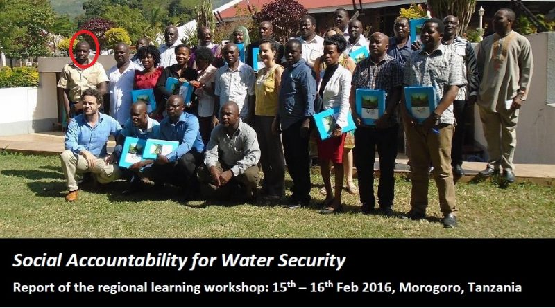 Feb 2016 when I attending a conference in Dodoma Tanzania on water security.