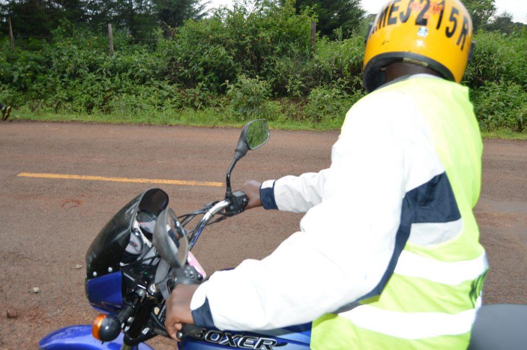 Making a U Turn on a motor bike