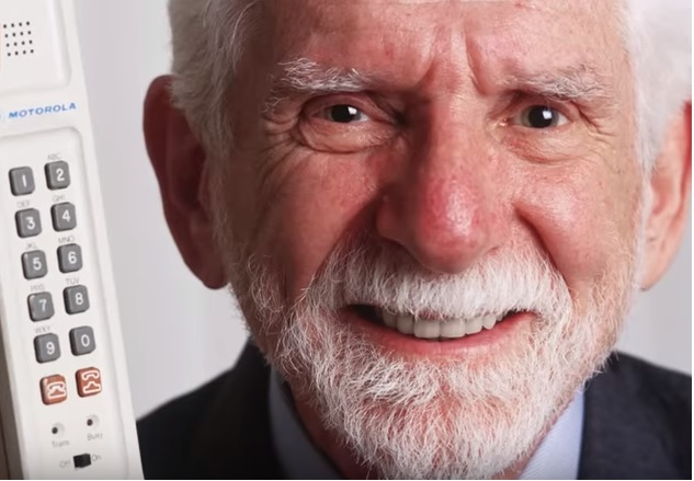 Photo: Martin Cooper, the man who invented the mobile phone.