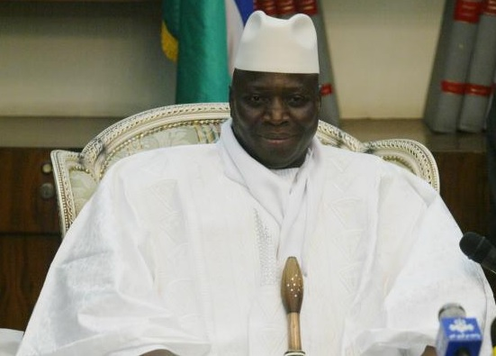 Photo: Jammeh was the former president of Gambia.