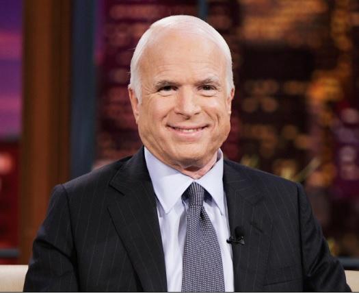 The Late Senator John McCain of Arizona State in the USA