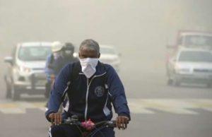 Serious air pollution in Delhi