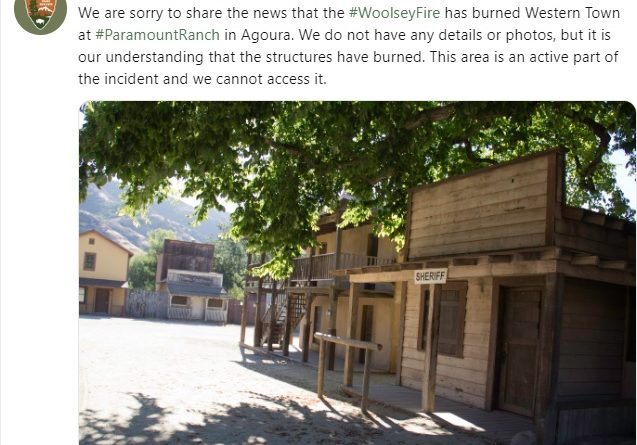 Image: Santa Monica reports of Woolsey Fire in Western Town, Paramount Ranch
