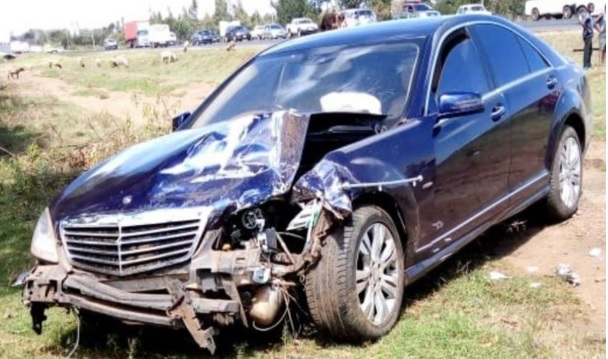 The Car which was used by the Chief Justice David Maraga and his wife which got into an accident this morning.