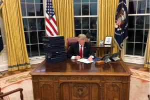 President Donald Trump at the White House.