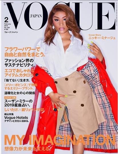 Nicki Minaj is on Japanese Vogue cover