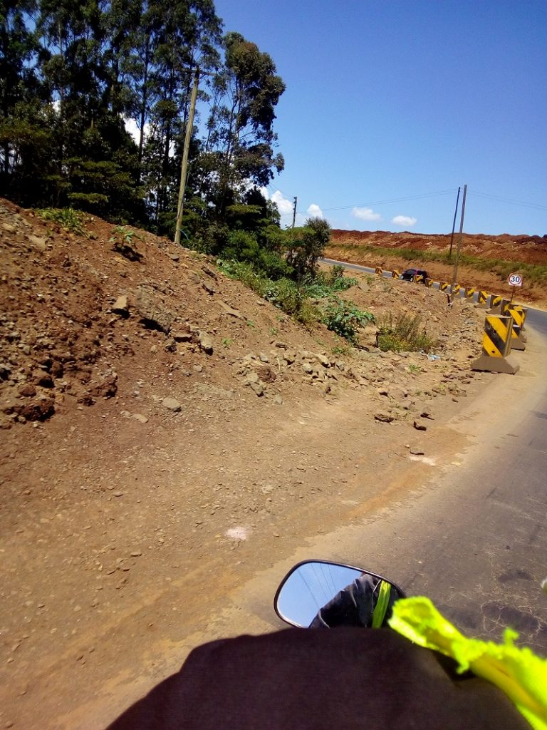 JKIA-Riron Road is under-construction and we like the seal by the Chinese contractors working on the road.