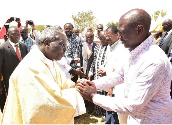 Ruto and Archbishop Anyolo
