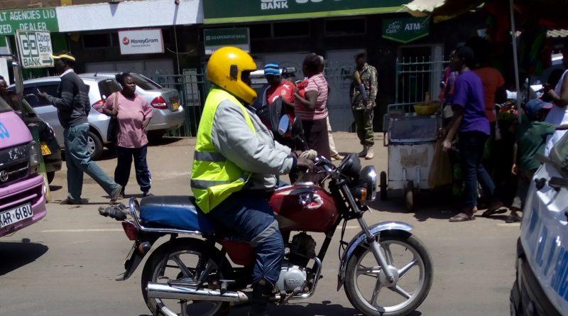 Boda boda rider plying on Naivasha road in Kawangware