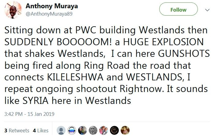 bomb explosion in Westlands