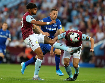 Aston Villa beat Everton in the Premier League
