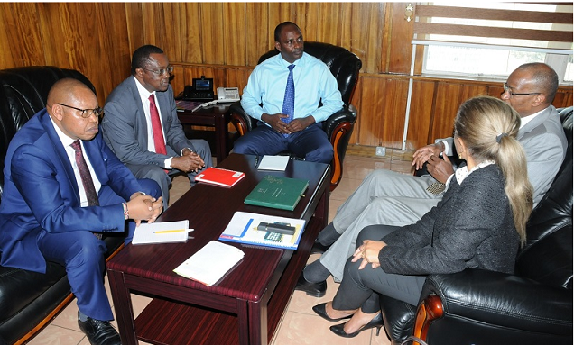 The Central Bank of Kenya governor makes a courtesy call to National Treasury